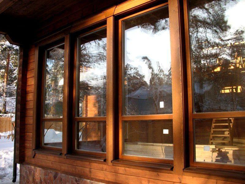 Натуральные деревянные окна от производителя