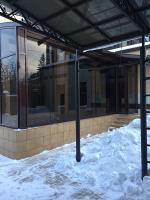 Остекление террасы с раздвижной дверью