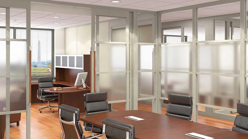 Виды офисных перегородок